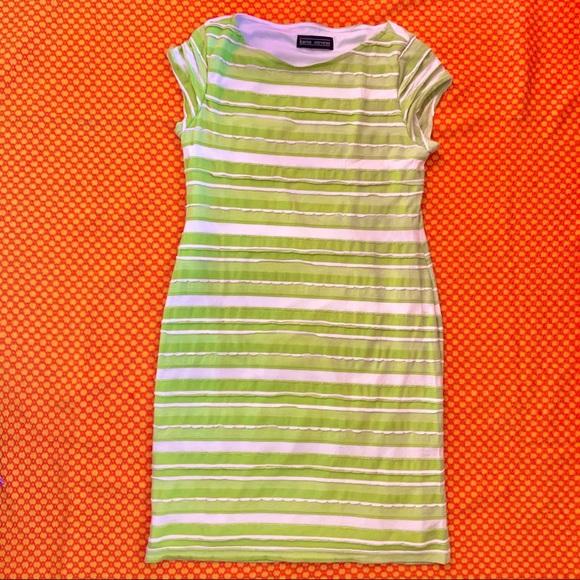 Vintage Dresses & Skirts - Y2K LIMEY STRIPED DRESS